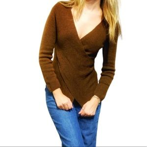 Sweaters - Baby Alpaca crossover knit v neck sweater